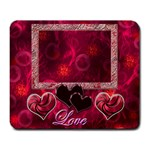 I heart you pink 163 large Mousepad