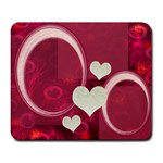 I Heart You pink 22 large Mousepad