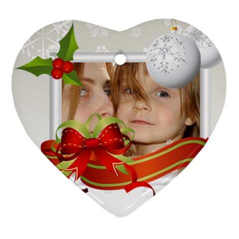 Xmas By Wood Johnson   Ornament (heart)   A1y1bisug9su   Www Artscow Com Front