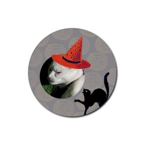 Halloween Coaster By Joan T   Rubber Round Coaster (4 Pack)   Fvu4de1kshrd   Www Artscow Com Front