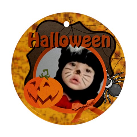 Halloween By Joely   Ornament (round)   He50eepfcig1   Www Artscow Com Front