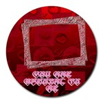 You are special to Me red round mousepad