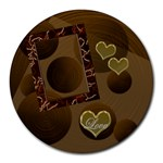 Love Heart 19 round mousepad