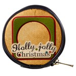 holly jolly christmas mini makeup bag