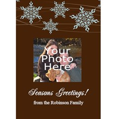 Elegant Snowflakes Personalized Photo Christmas Card By Angela   Greeting Card 5  X 7    Kur8ywn2wr11   Www Artscow Com Front Cover