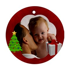 Custom Personalized Photo Ornament By Angela   Round Ornament (two Sides)   3jaiogj8t43y   Www Artscow Com Front