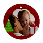 Custom Personalized Photo Ornament - Round Ornament (Two Sides)