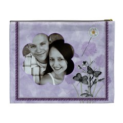 Purple Dreams Xl Cosmetic Bag By Lil    Cosmetic Bag (xl)   Rfe8z63j6dj3   Www Artscow Com Back