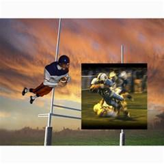 Football Calendar By Snackpackgu   Wall Calendar 11  X 8 5  (12 Months)   Zokfpuodjfc4   Www Artscow Com Month