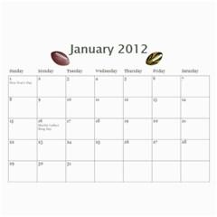 Football Calendar By Snackpackgu   Wall Calendar 11  X 8 5  (12 Months)   Zokfpuodjfc4   Www Artscow Com Jan 2012