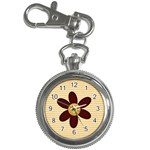 flower key chain watch