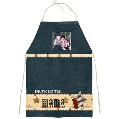 Patriotic Mama By Sheena   Full Print Apron   X92vjp6j1sps   Www Artscow Com Front
