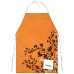 Orange swirl apron - Full Print Apron