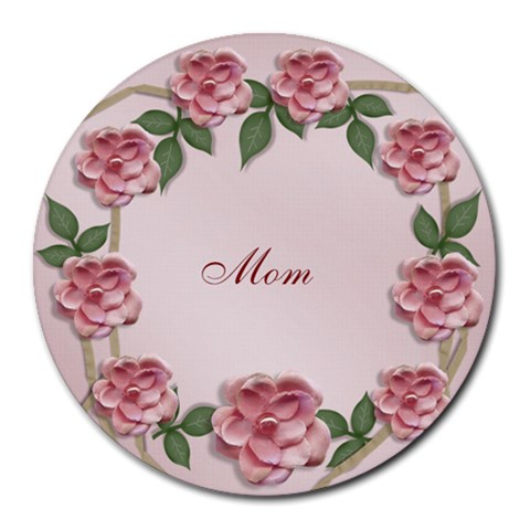Round Mousepad  Template  Flowers Mom By Jennyl   Round Mousepad   Bhiih6yribtc   Www Artscow Com Front