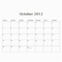 Calendar By Cathy   Wall Calendar 11  X 8 5  (18 Months)   Yjjc8yc8v3gb   Www Artscow Com Oct 2012