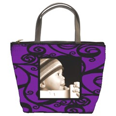 Fantasia Classic Purple Bucket Bag By Catvinnat   Bucket Bag   0g4gwtna30r8   Www Artscow Com Front