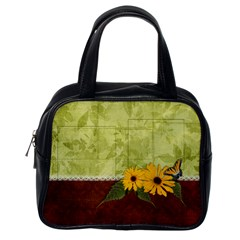 Family & Sunflowers Handbag By Mikki   Classic Handbag (two Sides)   Bksgzaj5amhc   Www Artscow Com Back