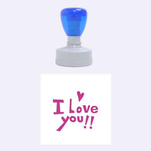 I Love You By Wood Johnson   Rubber Stamp Round (medium)   J9s9rvvo1euk   Www Artscow Com 1.5 x1.5  Stamp
