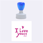 i love you - Rubber Stamp Round (Medium)