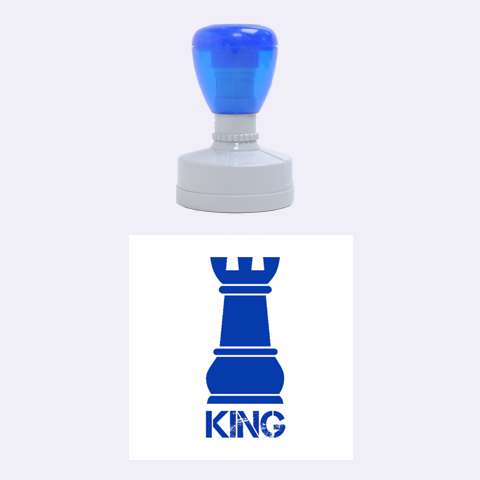 King By Wood Johnson   Rubber Stamp Round (medium)   Nlokp8kmb4gg   Www Artscow Com 1.5 x1.5  Stamp