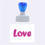Love - Rubber Stamp Oval
