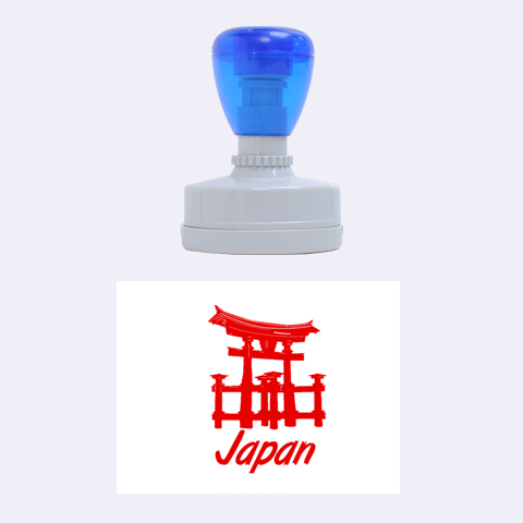 Japan By Wood Johnson   Rubber Stamp Oval   Ao51gtkjcx7o   Www Artscow Com 1.88 x1.37  Stamp