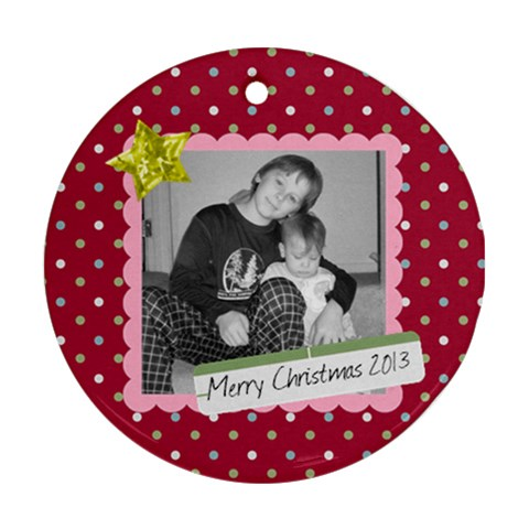 Picture Ornament 2 By Martha Meier   Ornament (round)   Na5719udecdf   Www Artscow Com Front