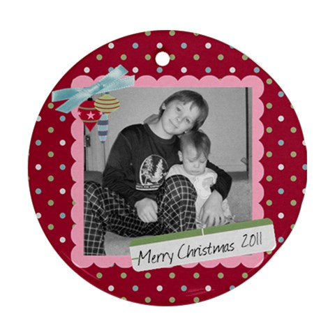 Picture Ornament 3 By Martha Meier   Ornament (round)   81sbqfj029ls   Www Artscow Com Front
