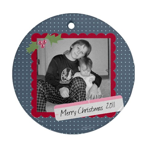 Picture Ornament 5 By Martha Meier   Ornament (round)   Kmer5a9mwg2i   Www Artscow Com Front