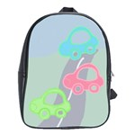 cars large school bag - School Bag (Large)