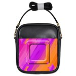 pink/orange sling bag - Girls Sling Bag