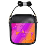 pink/orange sling bag2 - Girls Sling Bag