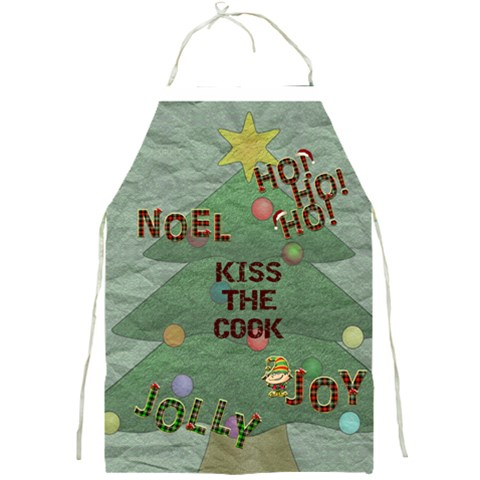 Kiss The Cook Christmas Apron By Lil    Full Print Apron   Xc2f2qihznkh   Www Artscow Com Front