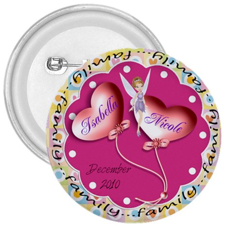 Isabella Button By Candy Smith   3  Button   H7vl82yxdxkl   Www Artscow Com Front