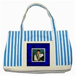 Fantasia Blues two s tote bag - Striped Blue Tote Bag