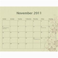 2011 Calendar By Laurie   Wall Calendar 11  X 8 5  (12 Months)   1x5rgyk271ch   Www Artscow Com Nov 2011