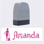 Girl Name Stamp PINK