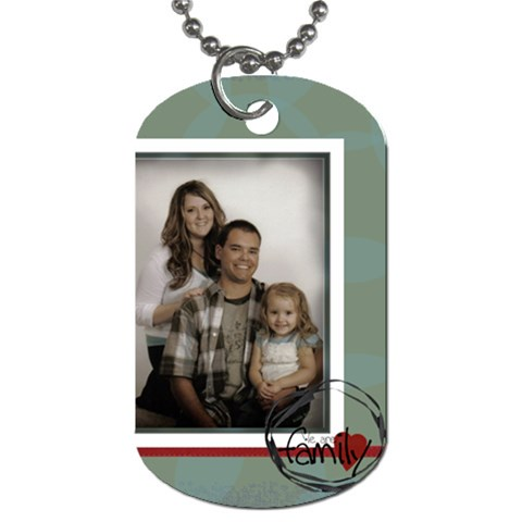 We Are Family Tag 2 By Amanda Bunn   Dog Tag (one Side)   2natgtir5oof   Www Artscow Com Front
