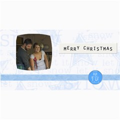 Blue Christmas Photo Card By Joan T   4  X 8  Photo Cards   3uqm4i5wvs2n   Www Artscow Com 8 x4  Photo Card - 4