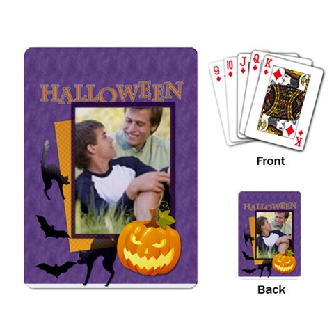 Halloween By Joely   Playing Cards Single Design   Bgzu9byc81t1   Www Artscow Com Back