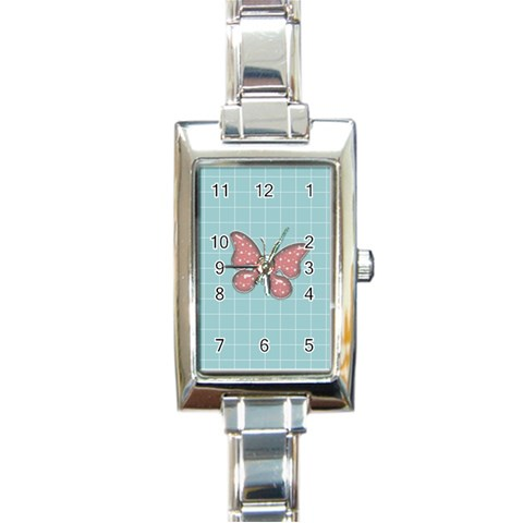 Watch 1 By Martha Meier   Rectangle Italian Charm Watch   0ialkyt84tq2   Www Artscow Com Front