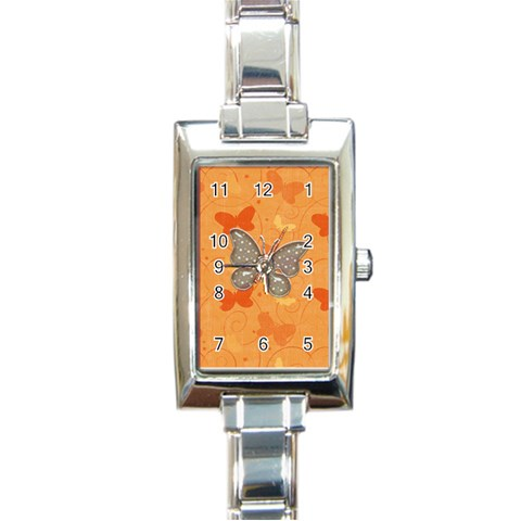 Watch 3 By Martha Meier   Rectangle Italian Charm Watch   Ljajkr09z5on   Www Artscow Com Front