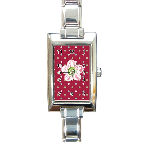 Watch 4 By Martha Meier   Rectangle Italian Charm Watch   W7tnh8ps3trg   Www Artscow Com Front