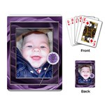 Purple Floral Playing Cards - Playing Cards Single Design