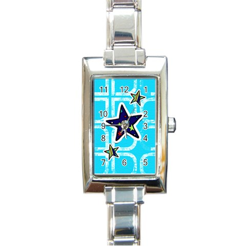 Watch 10 By Martha Meier   Rectangle Italian Charm Watch   Rsf5nt7un1ek   Www Artscow Com Front