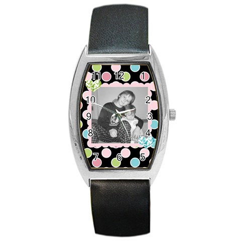 Pretty Watch 2 By Martha Meier   Barrel Style Metal Watch   1klfaoymymxl   Www Artscow Com Front