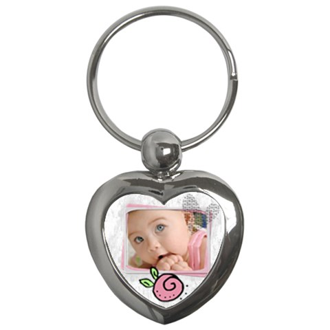 Baby Pink   Key Chain By Carmensita   Key Chain (heart)   Cpn4v6py0tk8   Www Artscow Com Front