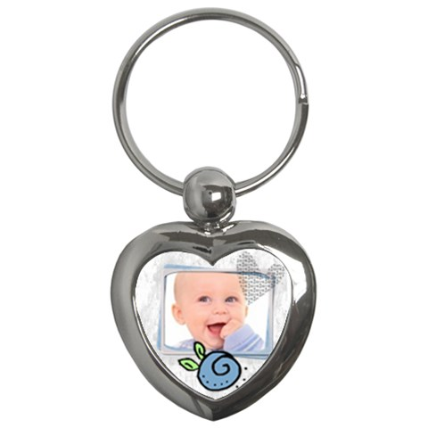 Baby Blue   Key Chain By Carmensita   Key Chain (heart)   Jbli3j6x75l6   Www Artscow Com Front