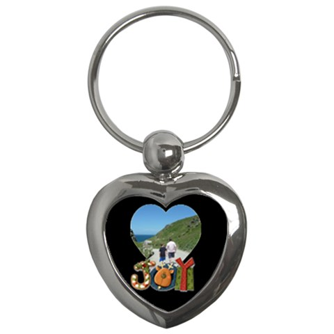 Joy Heart Keychain By Catvinnat   Key Chain (heart)   11cj2tfz1yjk   Www Artscow Com Front