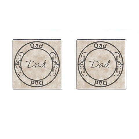 Dad Cufflinks By Lil    Cufflinks (square)   Xf9pdsdlxi0e   Www Artscow Com Front